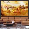 Tranh 3D thuyền vàng đẹp 027TB