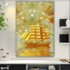 Tranh 3D con thuyền màu vàng đẹp 061TB