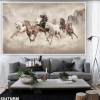 Tranh 3D 8 con ngựa đẹp 664TNBM