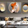 Tranh 3D cô gái nón cam và ngọc trai FT95035
